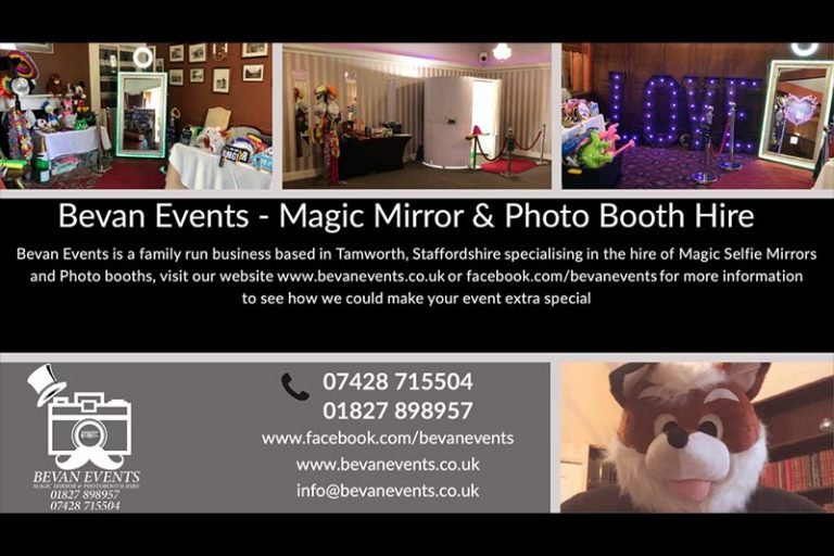 Advertising leaflet for magic mirror and photobooths