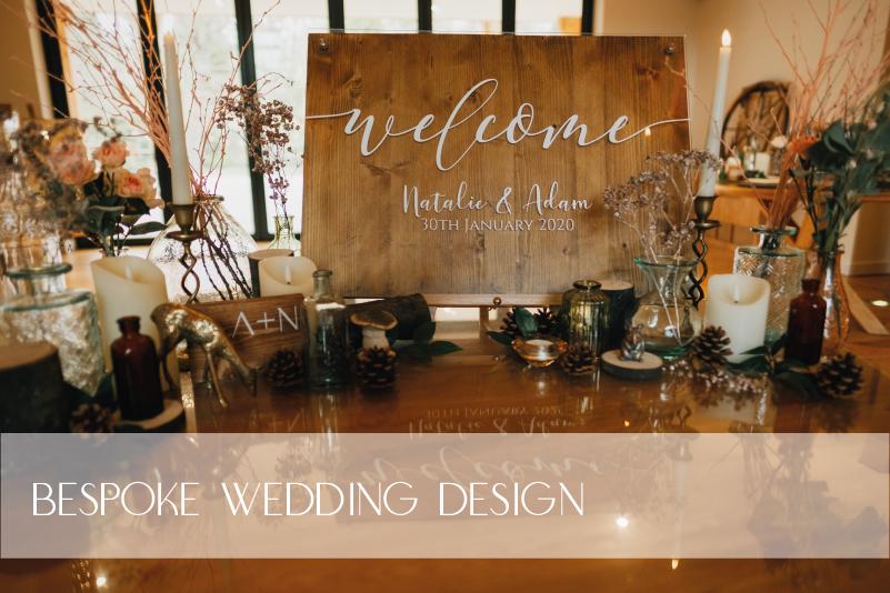 Rustic wooden wedding venue decor