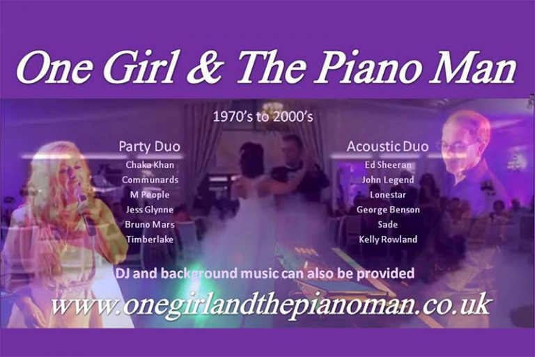 One Girl And The Piano Man advertising poster